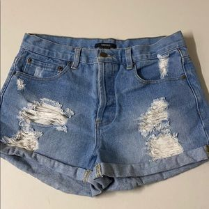 Forever 21 Booty Distressed Short Mini Shorts 29